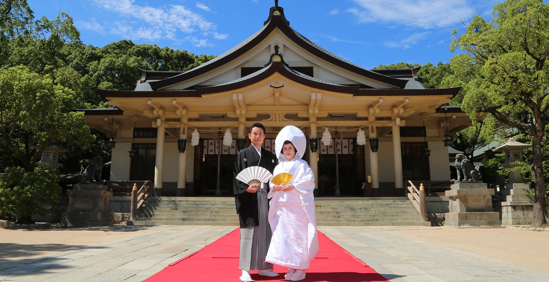 湊川神社でのこころに残る記念写真